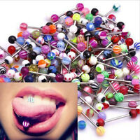 Lot Size Ball Tongue Navel Nipple Barbells Rings Bars Body Jewelry Piercing Hot
