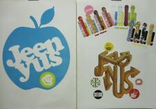 49e4e31e4394 JEENYUS 2003 vintage Logo Gear 2 sided snowboard poster Flawless NEW old  stock