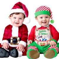 Merry Christmas Baby Fancy Dress Xmas Festive Infant Toddler Boys Costumes New