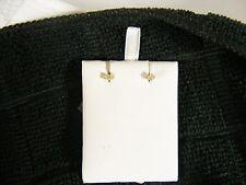 Diamond Ear Ring, Mini sized on 14k solid yellow gold studs