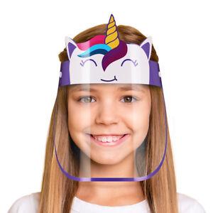CHILDREN SAFETY FULL FACE SHIELD MASK. REUSABLE ANTI-FOG. BACK TO SCHOOL 6 PCS