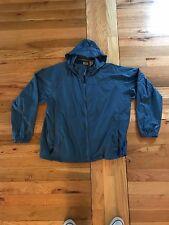 LL Bean Windbreaker Jacket StowAway Rainwear Hooded Mens Size XL Stone Blue