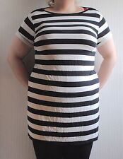Calf Length Crew Neck Casual Striped Dresses for Women