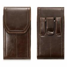 Men's Vertical Cell Phone Waist Carry Cover Universal Belt Pouch Holster Case