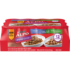 (12 Pack) Purina ALPO Gravy Wet Dog Food Variety Pack Prime Cuts With Beef & Wit
