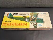 British DeHavilland 4 Guillow's Model Kit 205 - 1964 Flying Model Kit - RARE