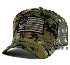 USA American Flag hat Tactical Snapback cap Flag Printed on Mesh- Army Digi Camo