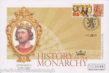 HISTORY OF THE MONARCHY MERCURY COVER WITH INSERT  2010 EDWARD I 1272 - 1307
