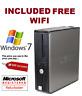 Dell pc Fast Windows 7 Pro Desktop Computer Base Unit 4GB 160GB WIFI open office