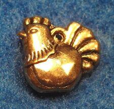50Pcs. WHOLESALE Tibetan Antique Gold 3D CHICKEN Hen Bird Charms Ear Drops Q0148