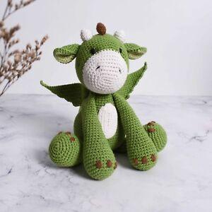 Green Dragon Amigurumi Crochet, Stuffed Animal Crochet, Handmade Gift For Baby