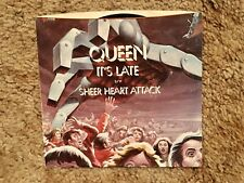 Queen It's Late / Sheer Heart Attack Vinyl Single Elektra Records 1977