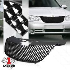 For 2007-2010 Chrysler Sebring {3D WAVE MESH} Black ABS Bumper Grille Vent Grill