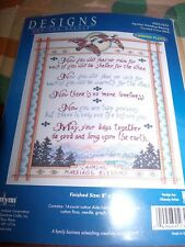 "Janlynn Apache Wedding Blessing Counted Cross Stitch Kit 8"" x 10"""