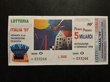 BIGLIETTO LOTTERIA  NAZIONALE ITALIA 97  1997