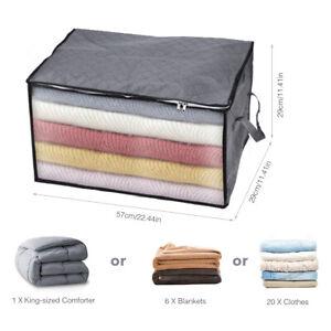Large Anti Dust Clothes Storage Bag Quilt Blanket Storage Sort Home Organizer US