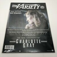 Daily Variety Magazine Large 11x14 - FYC Charlotte Gray - January 2, 2002