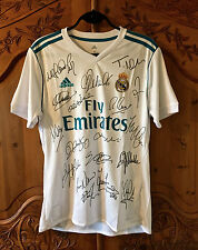 Full Team Signed Real Madrid 2017/18 Home Shirt ~ Genuine Autographs and COA