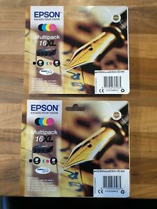 EPSON 'PEN' Multipack 16XL Cartridges, New, Sealed, Genuine. X2