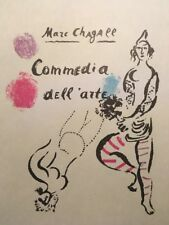 Marc Chagall, Commedia Dell'arte, Poster,Offset Lithograph,Vintage 1966.