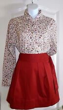 WOMENS maroon A-line pleated SKIRT = VINEYARD VINES = SIZE 6 $98 new = #R90