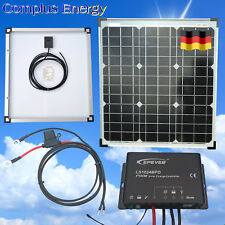 40W Solar Kit with Waterproof Charge Controller, Cables, German Solar Cells
