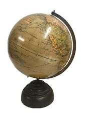 More details for an art deco style terrestrial 10 inch globe by geographia on bakelite base
