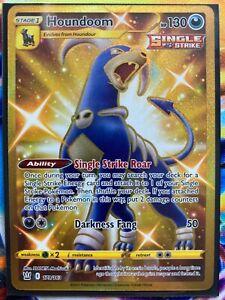 Pokemon Card   HOUNDOOM   Secret Rare  GOLD  179/163  BATTLE STYLES