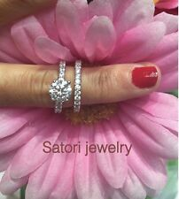 Sterling Silver Round Solitaire Ring Engagment Ring /wedding Band Promise Travel