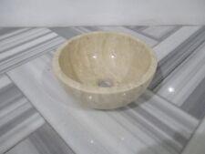 Light Travertine Polished Wash Basin Bowl Sink Natural Stone