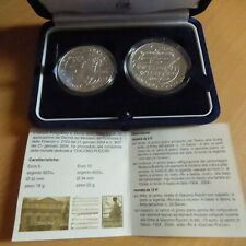 "Italy 5+10 euros 2004 Dittico ""Puccini Butterfly"" silver 92.5% (18g+22g) Box+CoA"