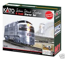 Kato N Cb&Q Silver Streak Zephyr Starter Set 106-0041