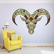 Rams Head Animal Tribal Day of the Dead wall sticker ss5