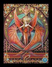3d CUADRO CON elfo y Dragón - Copper Ala - Anne Stokes Póster Impresión Lienzo