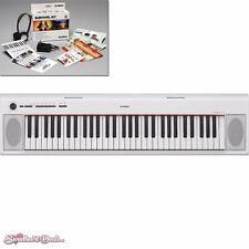 Yamaha NP-12 Piaggero - Portable Piano-Style Keyboard (White) +Bonus Accessories
