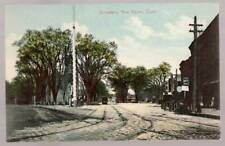 [-382] Broadway - Street Car Rails- New Haven CT -Early 1900s