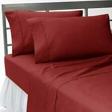 1000 TC EGYPTIAN COTTON COMPLETE BEDDING COLLECTION IN ALL SETS & BURGUNDY COLOR