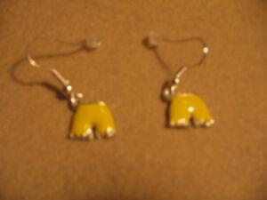 Yellow Shorts Earrings