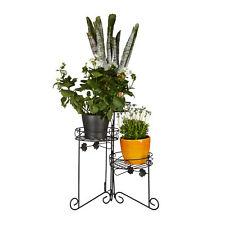 Blumenständer Metall, 3 Etagen, 50 cm hoch, dekorativ zum Klappen, Pflanzenbank