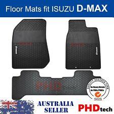 ISUZU D-MAX DMAX DUAL CREW CAB All Weather Rubber FLOOR MATS SET 2012-2019