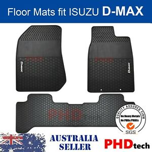 ISUZU D-MAX DMAX DUAL CREW CAB All Weather Rubber FLOOR MATS SET 2012-JUL 2020