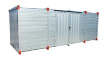 Blechcontainer, Schnellbaucontainer, Lagercontainer mit Doppelflügeltür Seitlich