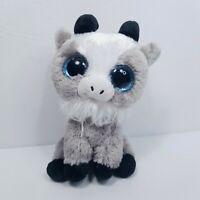 "TY Beanie Boos GABBY the Goat Plush Stuffed Animal Blue Glitter Eyes 6"" Grey"