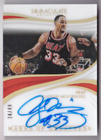 2018-19 Immaculate Marks of Greatness Autograph Alonzo Mourning Auto 24/49