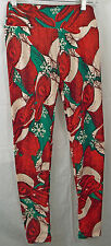 Women's LuLaRoe Leggings in OS (One Size) Unicorn Red Bunnies Scarf Hat Holiday