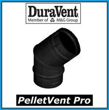 DuraVent 45 Degree 3 in diam Elbow Black for Comfortbilt Pellet Stoves-3PVP-E45B