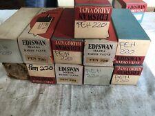 Mazda Ediswan PEN220 x3. NOS vacuum tubes. Original packaging. Vintage.