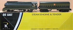 "K-Line K3380-3768G PRR ""The Torpedo Limited"" Steam Engine w/TMCC 3-Rail O-Gauge"