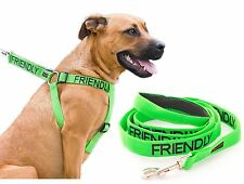 Dog Harness Non Pull FRIENDLY Green Color Coded Powerful Large 2 4 6 Foot Leash
