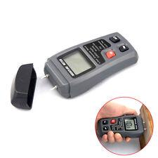 0-99.9% Digital Wood Moisture Meter Humidity Tester Timber Damp Detector 2Pins